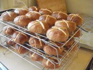 Home Made Hot Cross Buns