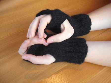 Simple to make Fingerless Gloves